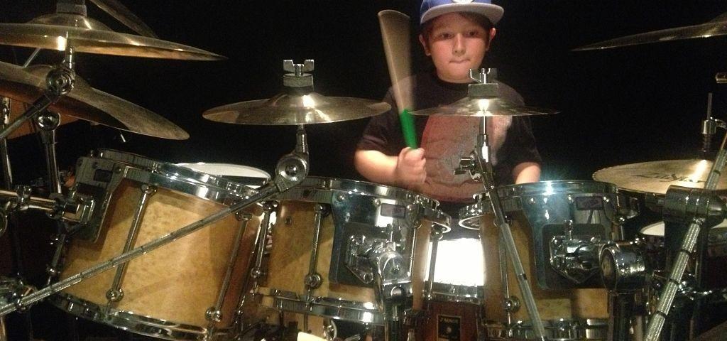 Drum Student at the Drum Lab